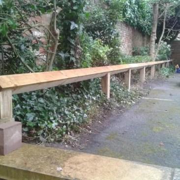 Tudor Carpentry and maintenance Shrewsbury Shropshire carpark fence