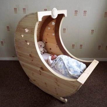 Moon Crib Cot Tudor Carpentry Shrewsbury Shropshire Carpenters