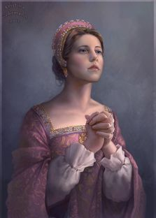 Modern depiction of Katherine by Kristina Gehrmann