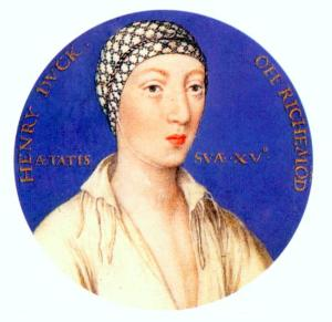 Henry Fitzroy (illegitimate) 15 June 1519 - 23 July 1536 (Bessie Blount)