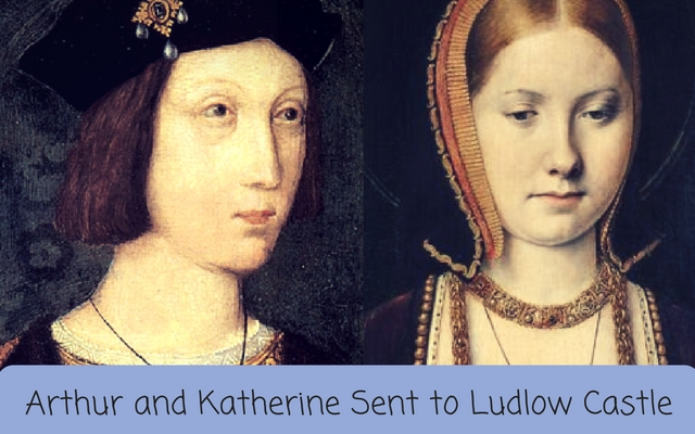 Arthur and Katherine Sent to Ludlow Castle