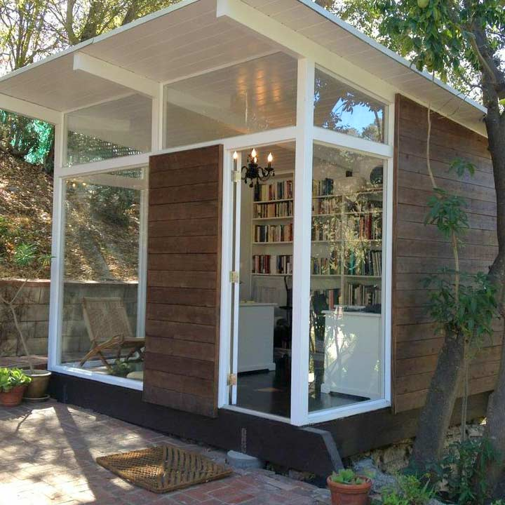Artist Studio Overlooks Guest Cabin With Rooftop Garden: My Shed: 120 Square Feet Of Happiness