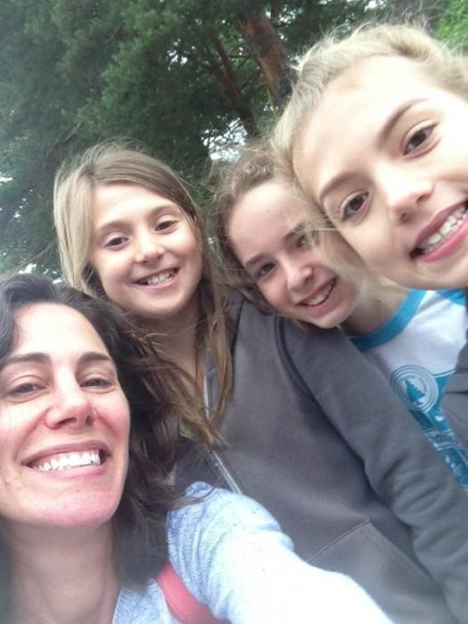 Rachel and her campers (Photo: Rachel Sklar)