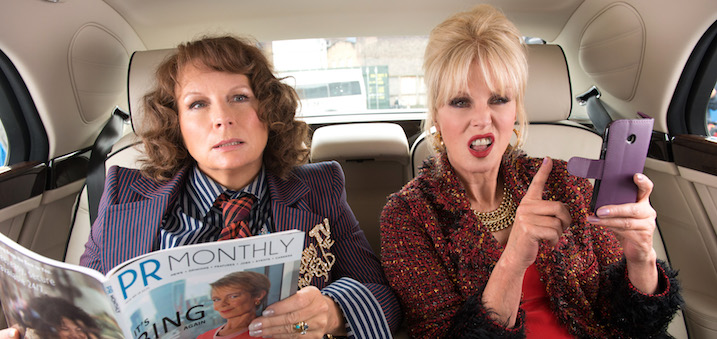"Jennifer Saunders as ""Edina"" and Joanna Lumley as ""Patsy"""