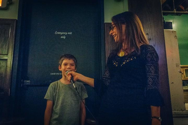 Deborah's son sings