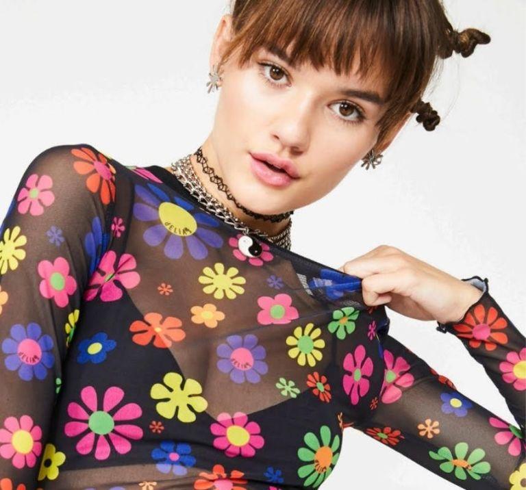 retro daisy print shirt