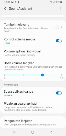 Pengaturan Sound Assistant