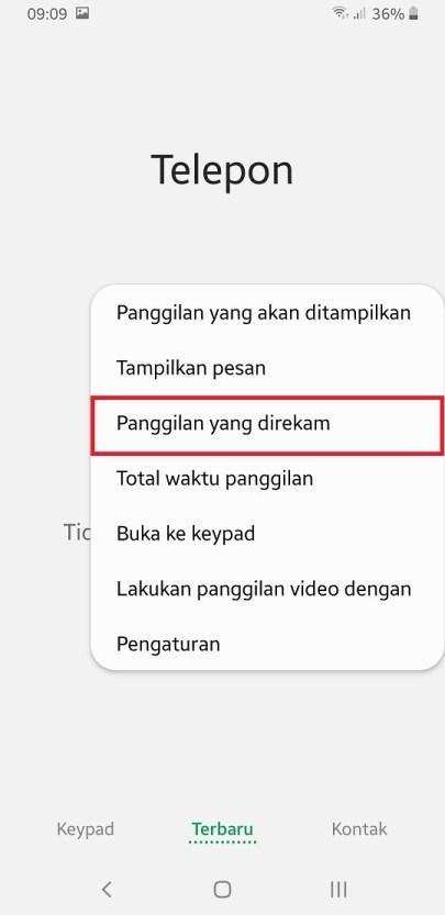 Cara melihat rekaman panggilan di Samsung Galaxy