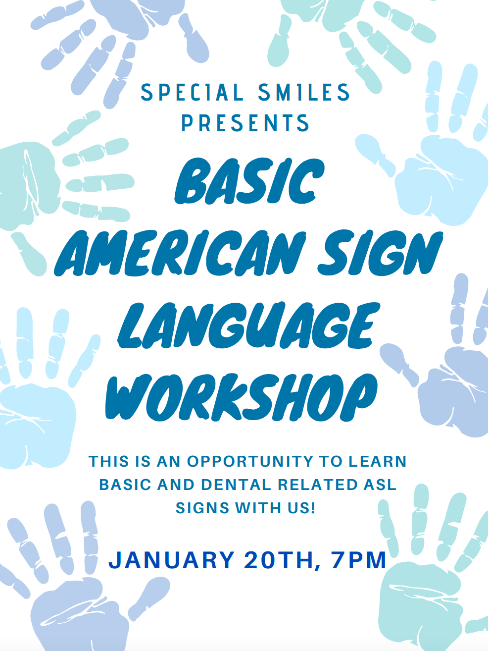 ASL Workshop – Special Smiles
