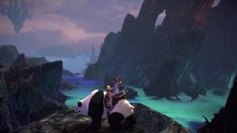 Me voici avec mon petit panda !