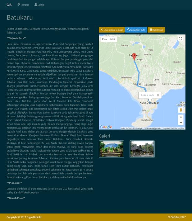 Sistem Informasi Geografis Tempat Detail