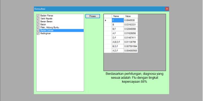 Sistem Pakar Metode Dempster Shafer VB