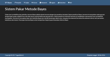 sistem pakar metode bayes dengan php