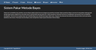 Source Code Sistem Pakar Teorema Bayes PHP