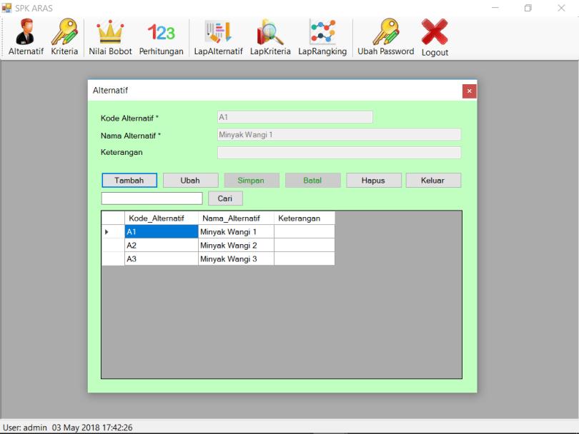 SPK_Metode_ARAS_VB_Alternatif