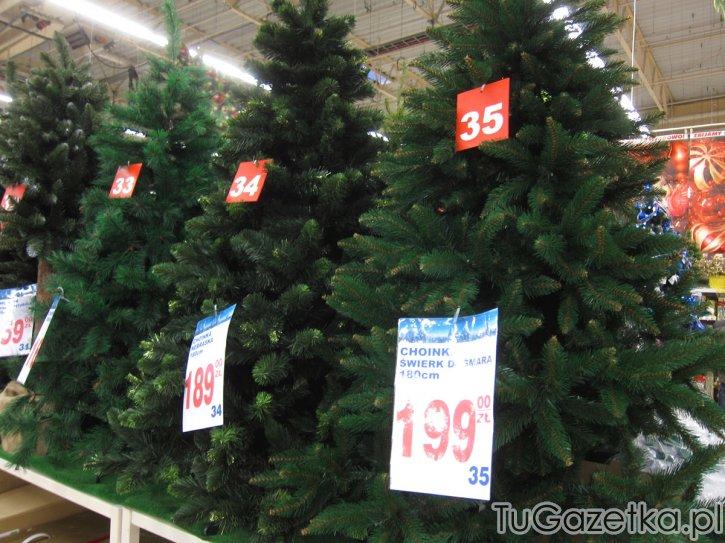 Sztuczne Drzewka Witeczne Auchan Swita Choinka