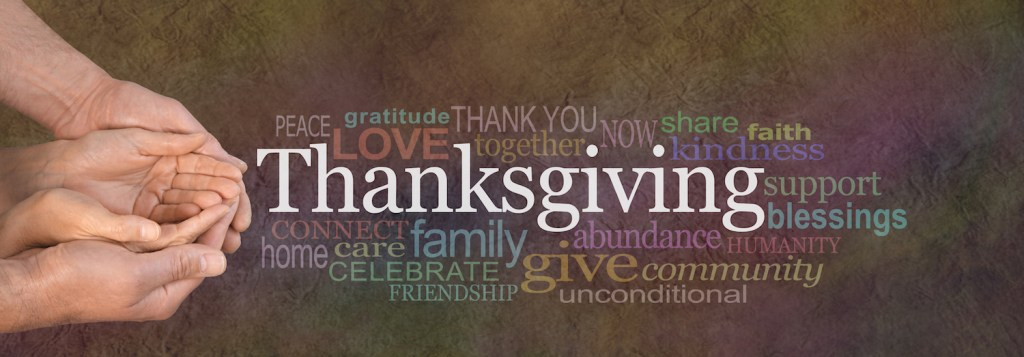 Thanksgiving in a word cloud