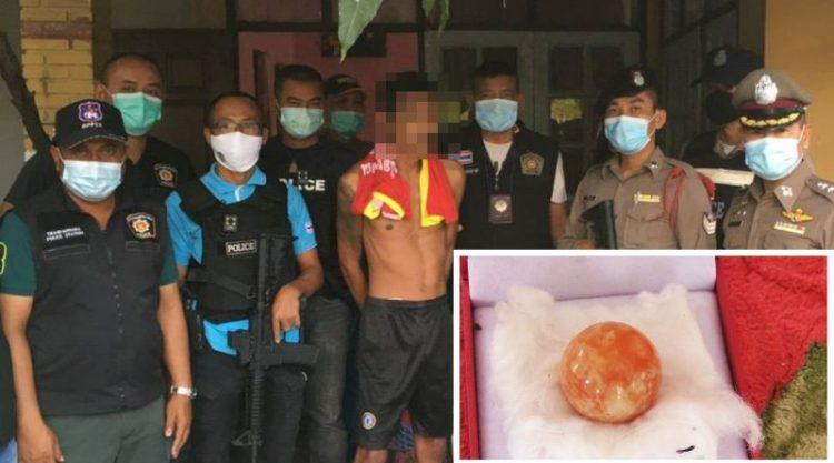 El pescador tailandés que encontró una perla naranja de 280,000€ es arrestado después de celebrarlo con una fiesta de metanfetaminas.