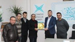 Bulancak Şoförler Odası Başkanı Aydın'dan TÜGVA'ya ziyaret