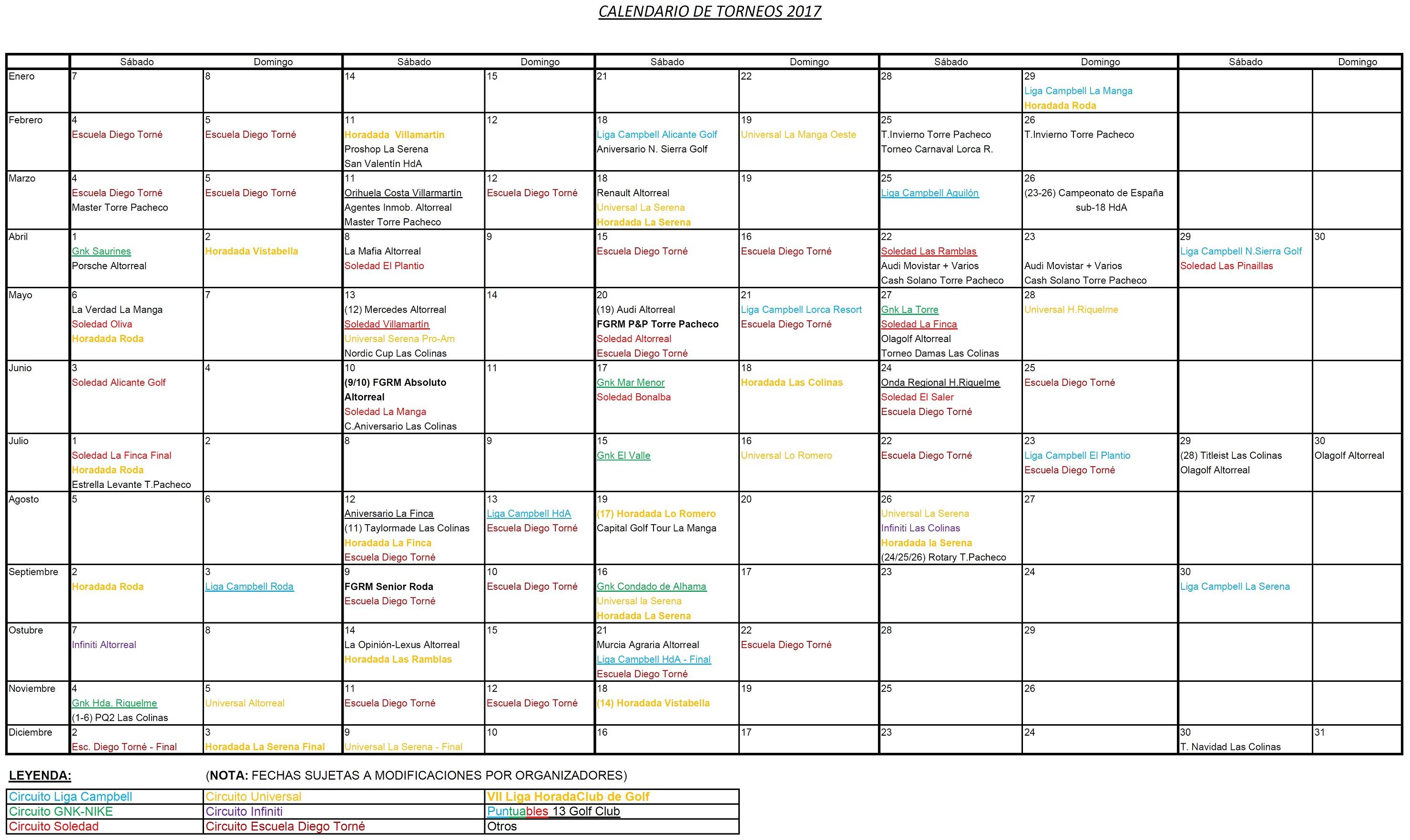 170221 Actualización de Calendario