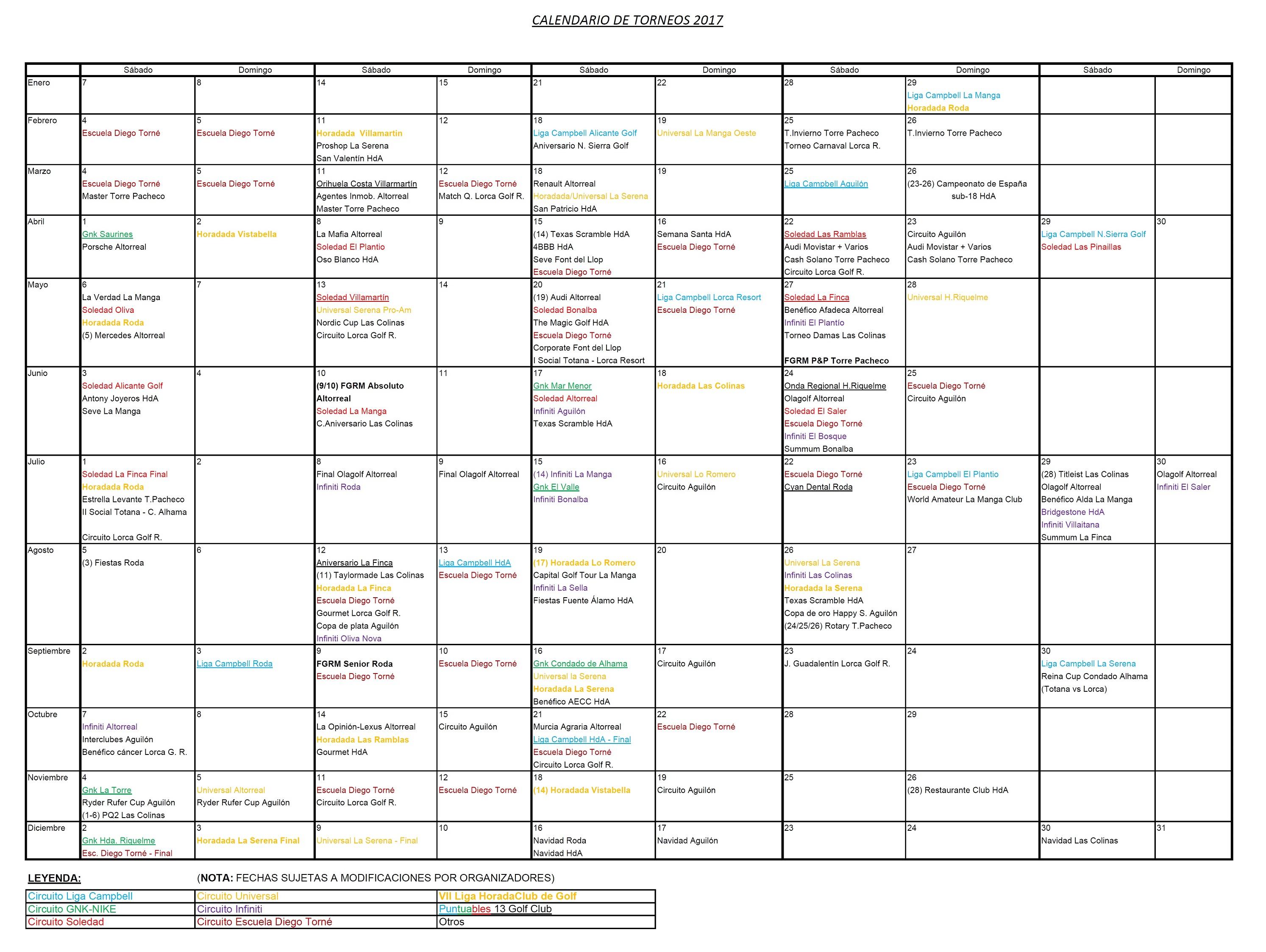 170516 Actualización de Calendario de Torneos