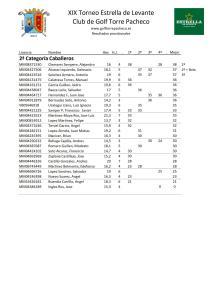 190428 TPA, Clasificación del torneo (2)