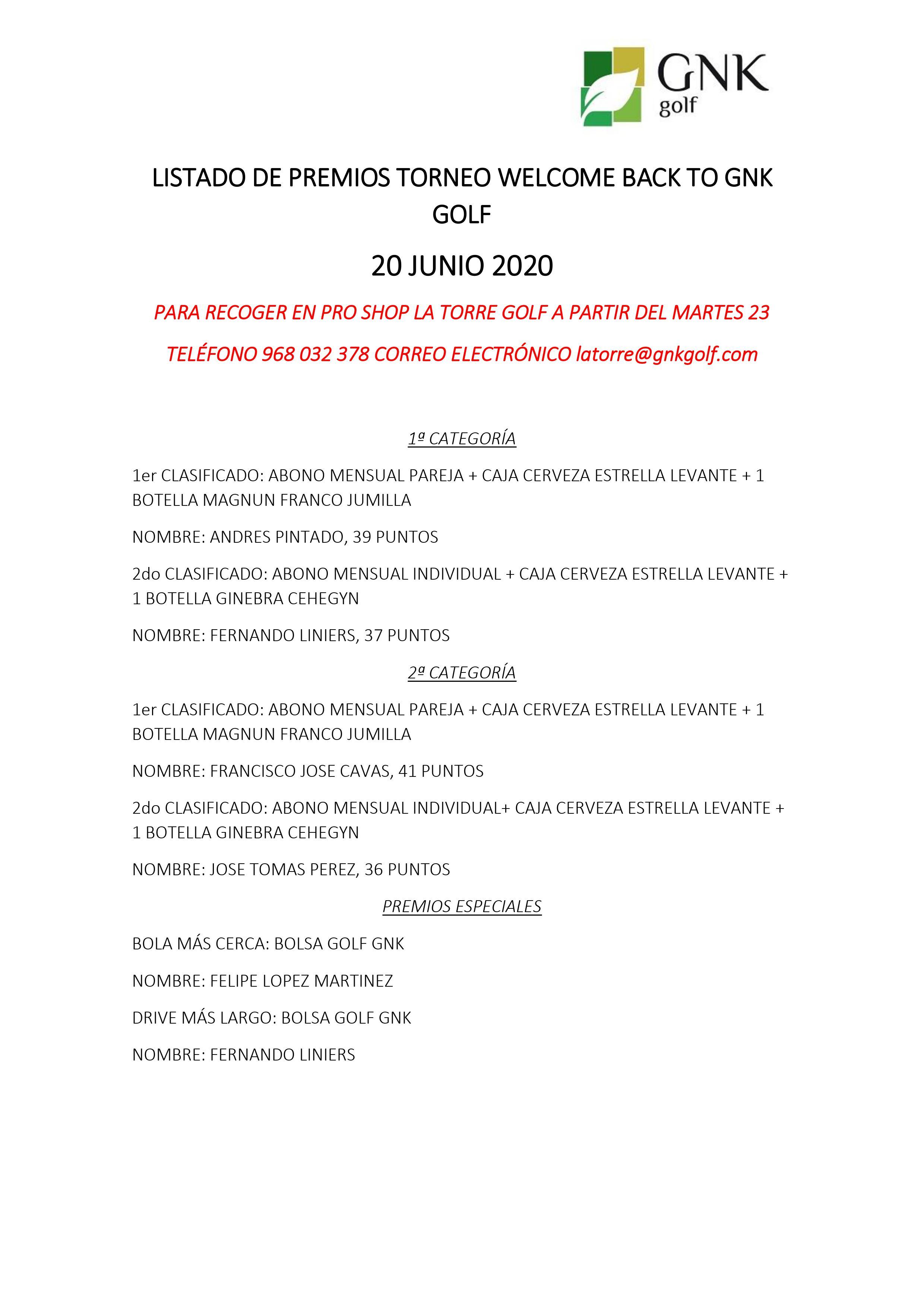 200614 LTO, Listado de premios (1)