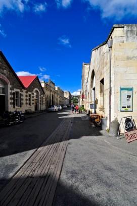 Le centre historique d'Oamaru; de belles pierres, et un petit air d'Europe