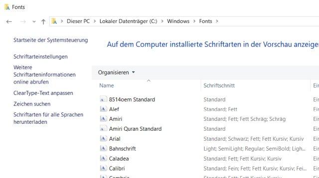 Windows 10 Zeichensatze Und Schriftarten Installieren Tuhl Teim De