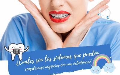 Síntomas que pueden considerarse urgencias con una ortodoncia