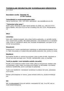 thumbnail of Tuiskulan_Seuratalon_vuokraajan_kasikirja