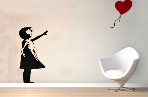 Graffiti-Banksy-Balloon-Girl-Mural-Room