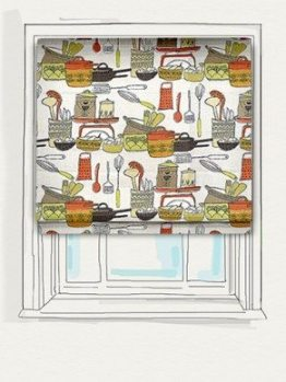 Country Cuisine Clementine Roman Blind