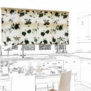 The Floreale Black roller blind is a stunning combination of cream contrasting with jet black sprays of bold flowers. The soft hessian like fabric gives this blind a light touch with its wonderful texture and open weave.  Using black in a design scheme will give a dramatic sophisticated look that cannot be bettered. Place the Floreale Black blind in a hallway to give instant impact or why not in a lounge, toning in with a neutral walls and jet black table lamps and cushions.
