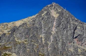 Widok na Łomnicki szczyt