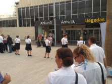 Welcoming the arrivals at Tenerife South Airport