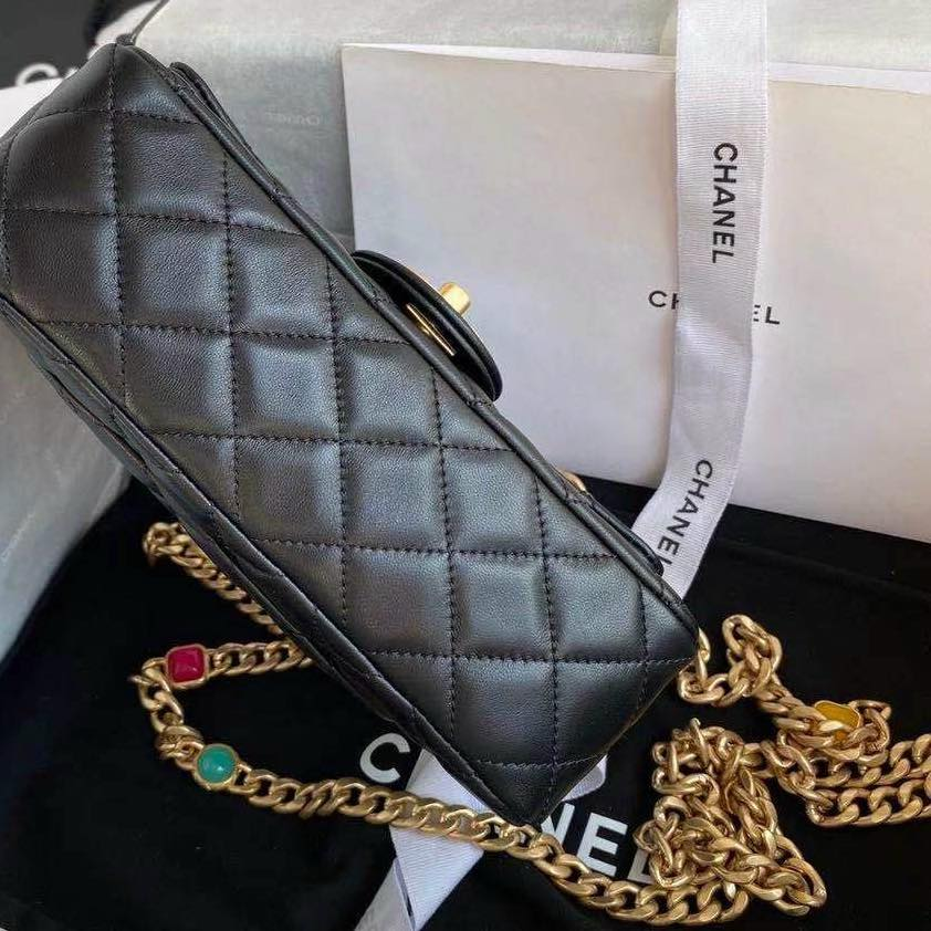 Túi Chanel FLAP BAG WITH RESIN & GOLD 3