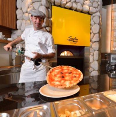 セラフィーナニューヨークのピザ