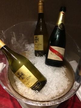 東京マリオットのクラブラウンジのワイン