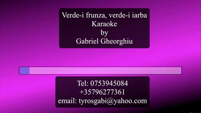 Verde-i frunza, verde-i iarba – Negativ Karaoke Demo by Gabriel Gheorghiu