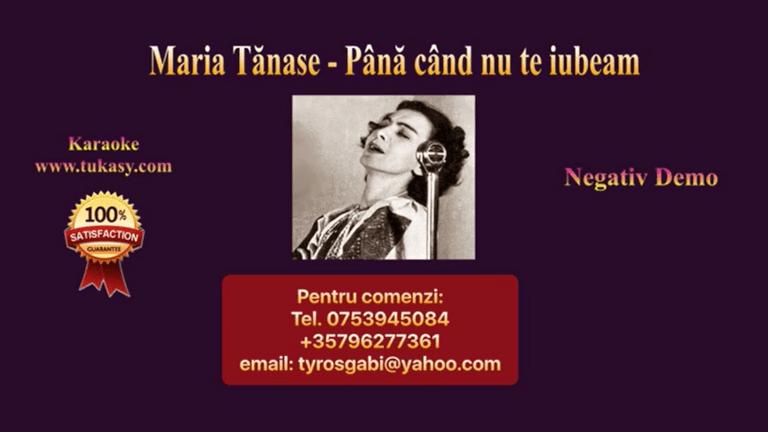 Pana cand nu te iubeam, Versiunea 2 – Maria Tanase – Negativ Karaoke Demo by Gabriel Gheorghiu