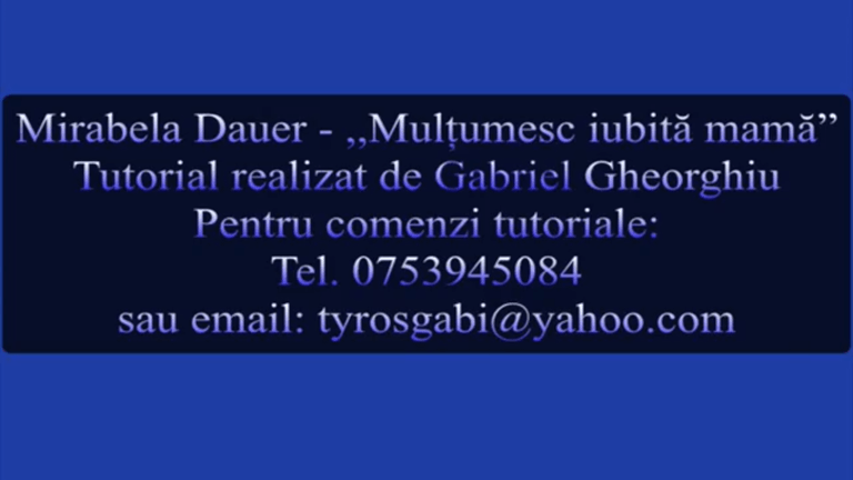 Multumesc iubita mama – Tutorial, Acorduri, Tabulaturi by Gabriel Gheorghiu