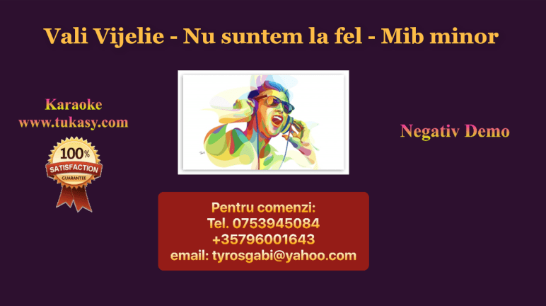 Nu suntem la fel – Mib minor- Vali Vijelie – Negativ Karaoke Demo by Gabriel Gheorghiu