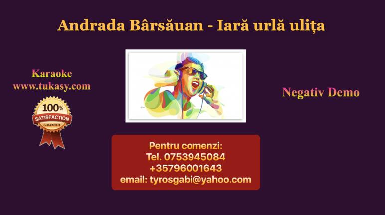 Iara urla ulita – Andrada Barsauan – Negativ Karaoke Demo by Gabriel Gheorghiu
