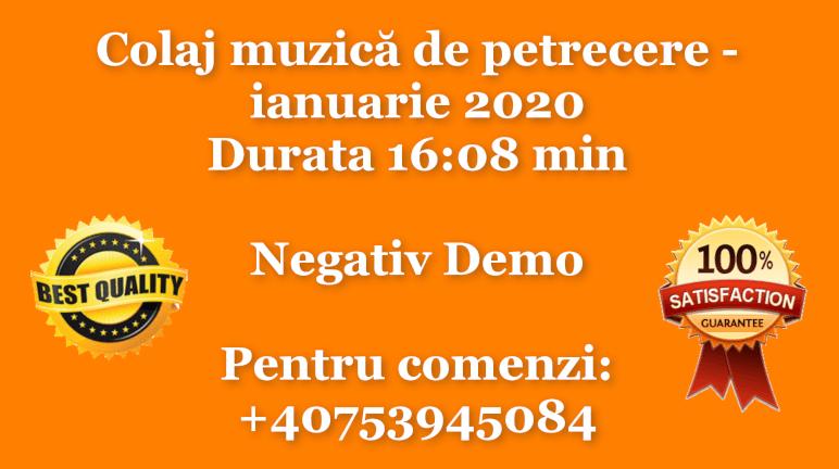 Colaj muzica de petrecere – ianuarie 2020