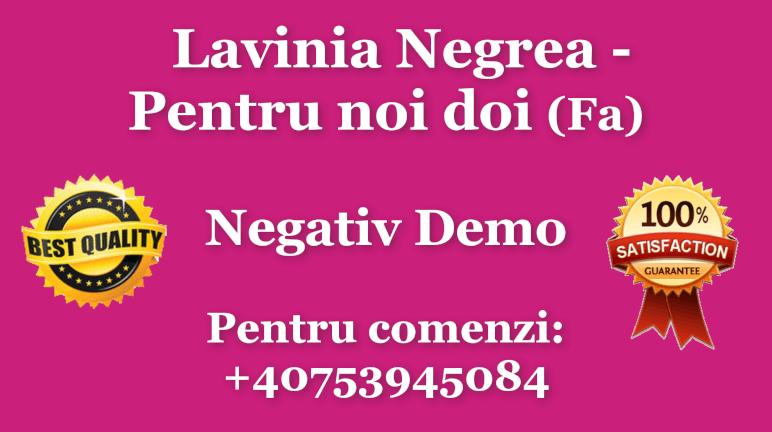 Pentru noi doi – Fa – Lavinia Negrea si Codrut Bistriteanu – Negativ Karaoke Demo by Gabriel Gheorghiu