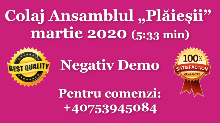 "Colaj Ansamblul ""Plaiesii"" – martie 2020 (pentru voce feminina) – Negativ Karaoke Demo by Gabriel Gheorghiu"
