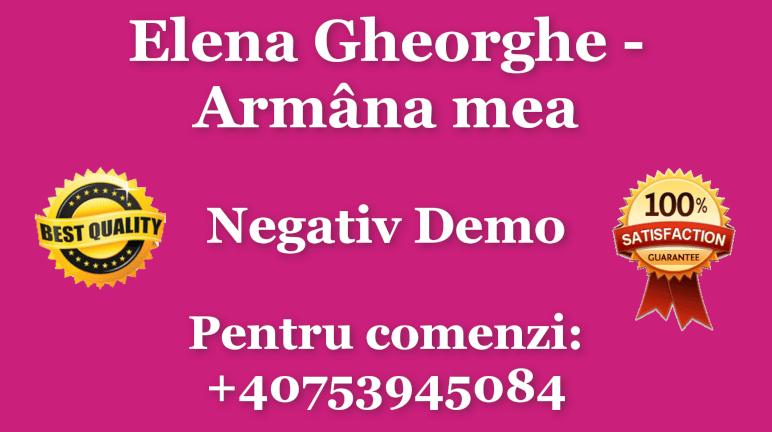 Armana mea – Elena Gheorghe – Negativ Karaoke Demo by Gabriel Gheorghiu
