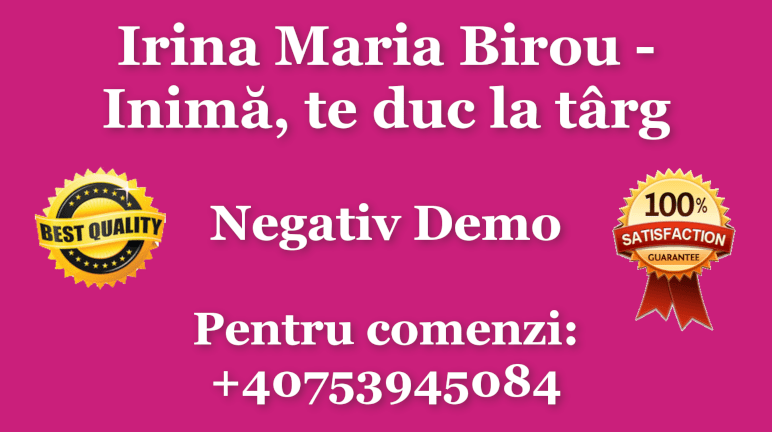 Inima, te duc la targ – Irina Maria Birou – Negativ Karaoke Demo by Gabriel Gheorghiu