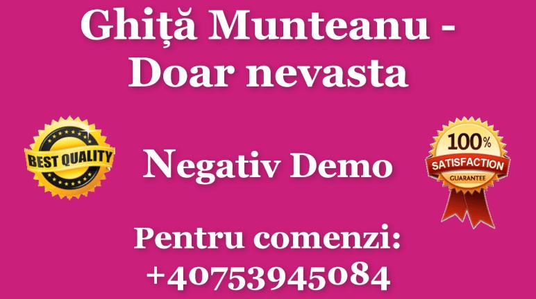 Doar nevasta – Ghita Munteanu – Negativ Karaoke Demo by Gabriel Gheorghiu